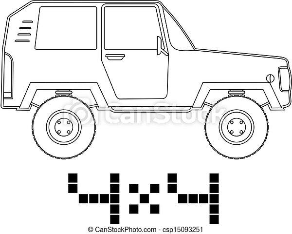 4x4 car - csp15093251