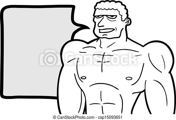 Clipart Vector of Strong man talk - Creative design of strong man ...