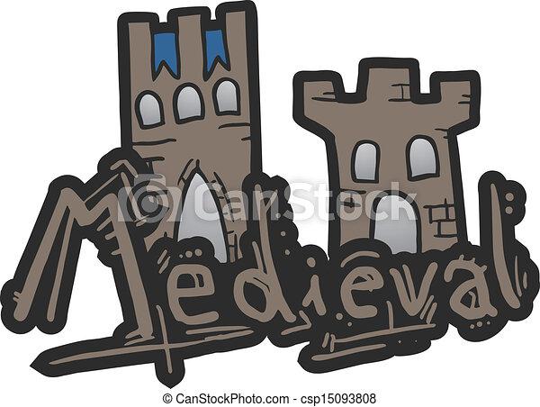 Medieval castle Vector Clipart EPS Images. 5,283 Medieval castle ...