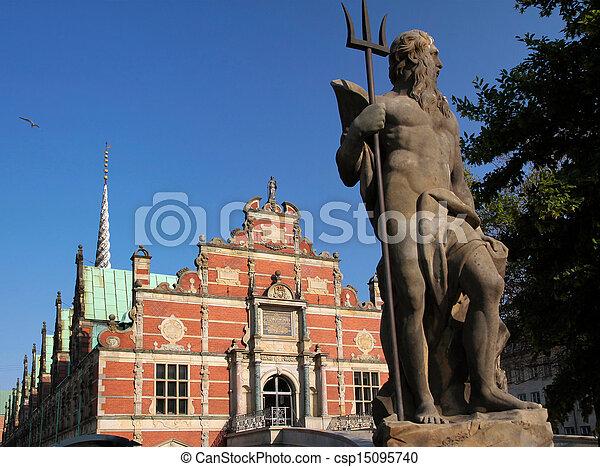 Historic old stock exchange in Copenhagen - csp15095740