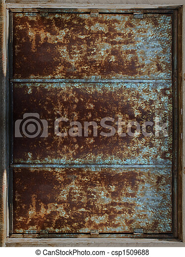 Rusty Metal Frame - csp1509688