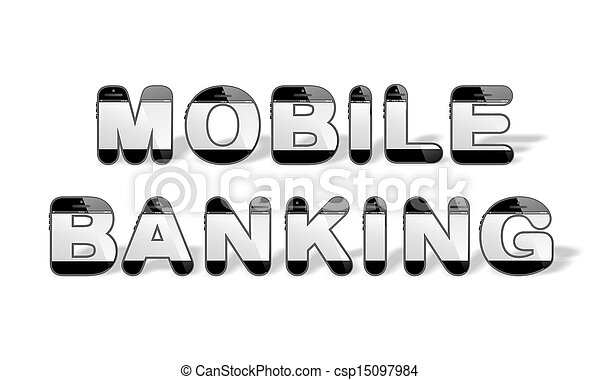 MOBILE BANKING designed with smartp - csp15097984