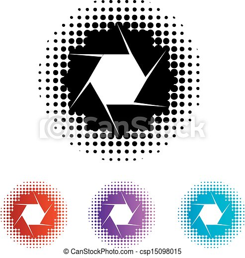 Vector Clip Art of Photography Aperture Logo csp15098015 - Search ...