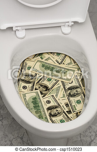 Toilet, dollars, one - csp1510023