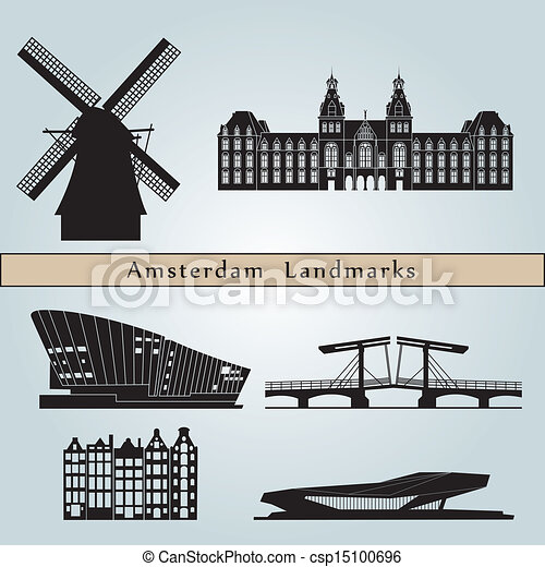 Amsterdam landmarks and monuments - csp15100696