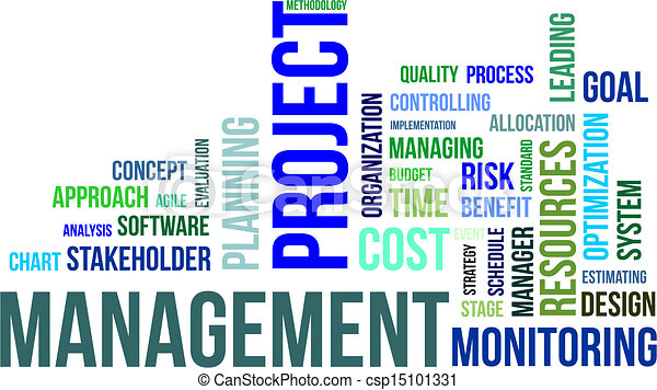 - word cloud - project management - stock illustration, royalty free ...