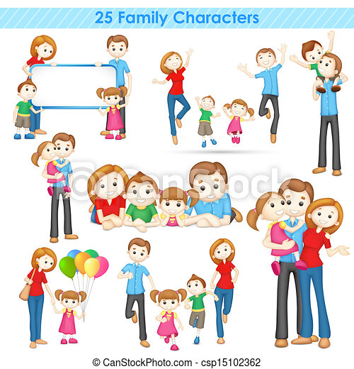 3d Family Collection - csp15102362