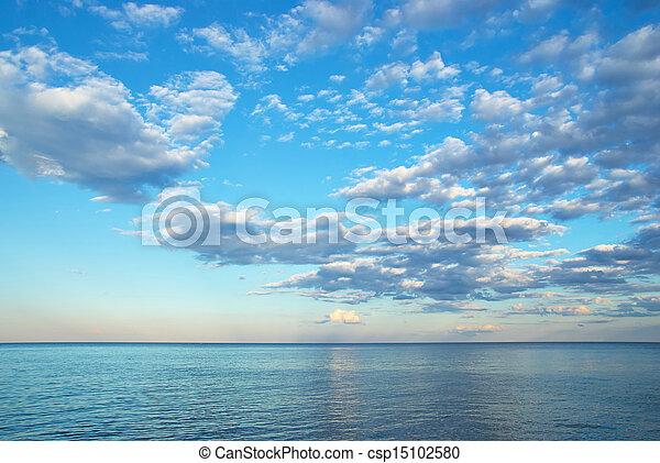 beauty landscape with sunrise over sea - csp15102580