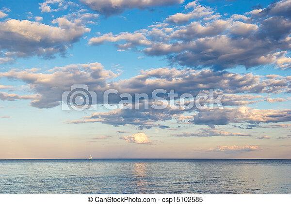 beauty landscape with sunrise over sea - csp15102585