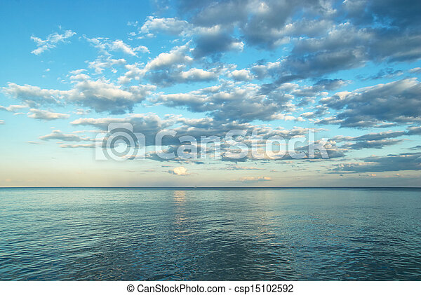beauty landscape with sunrise over sea - csp15102592