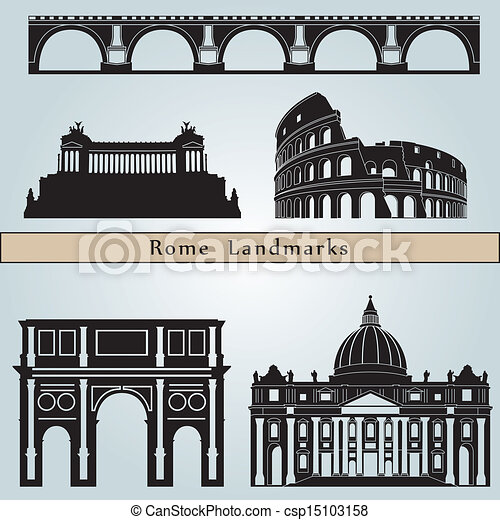 Rome landmarks and monuments - csp15103158
