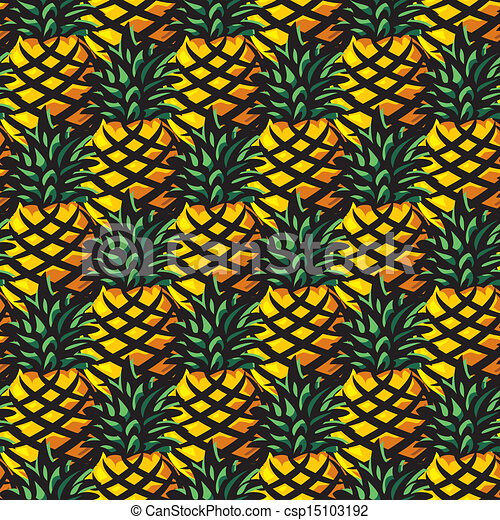 EPS Vectors of ananas background - vector seamless background with ...: www.canstockphoto.com/ananas-background-15103192.html