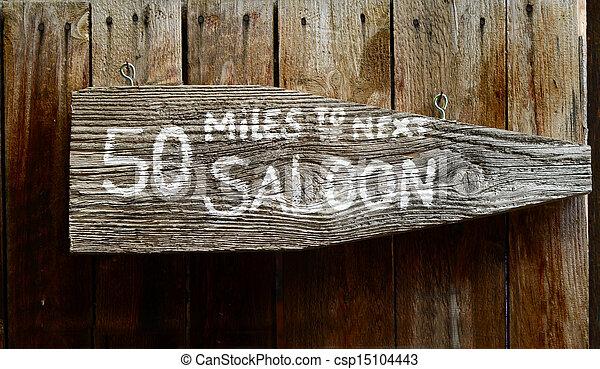 Wild West Saloon Sign - csp15104443