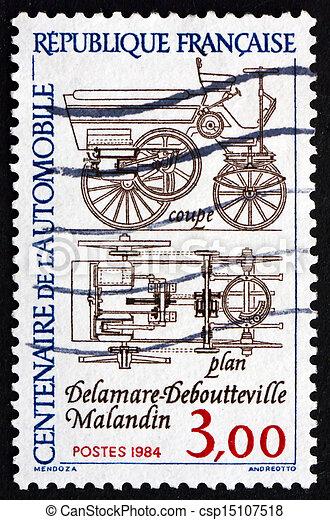 Postage stamp France 1984 Automobile Plans - csp15107518