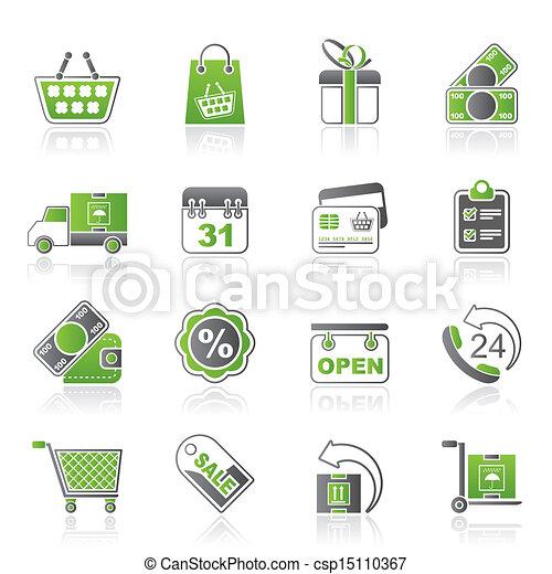 Online shop icons - csp15110367