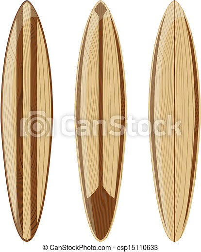 Vecteurs de bois retro planches surf bois planches surf isol csp15110633 recherchez - Planche a dessin en bois ...