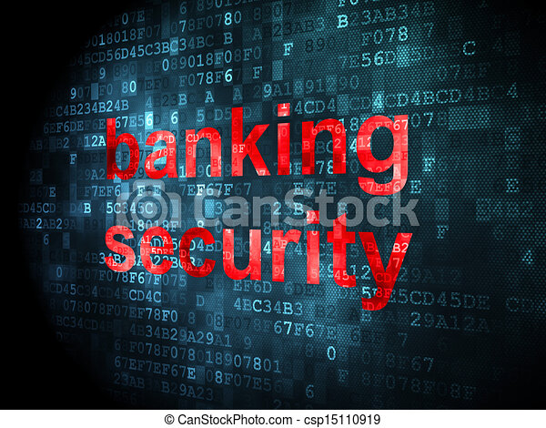 Protection concept: Banking Security on digital background - csp15110919