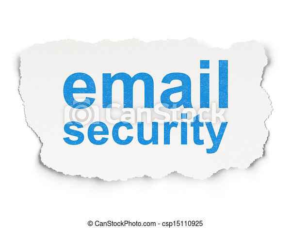 Safety concept: Email Security on Paper background - csp15110925