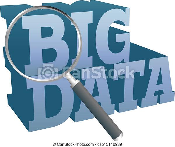 Big Data find information technology - csp15110939