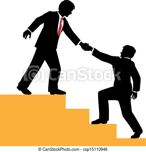 eps vector of business people help climb success ladder clip art transparent hi res ladder clipart black and white