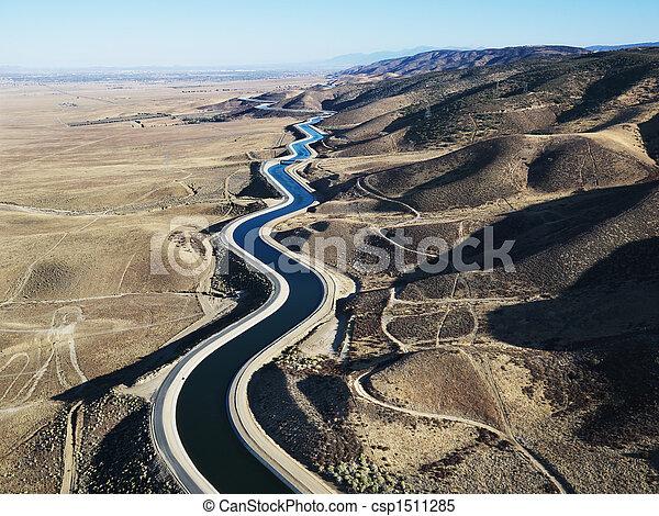 Aerial of aqueduct. - csp1511285