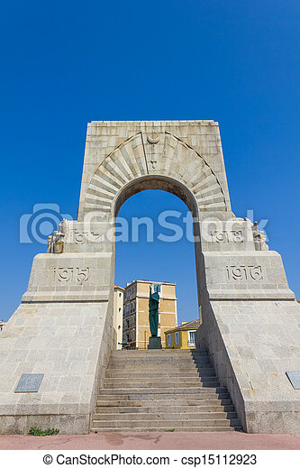 Historic War Monument in Marseilles, France - csp15112923
