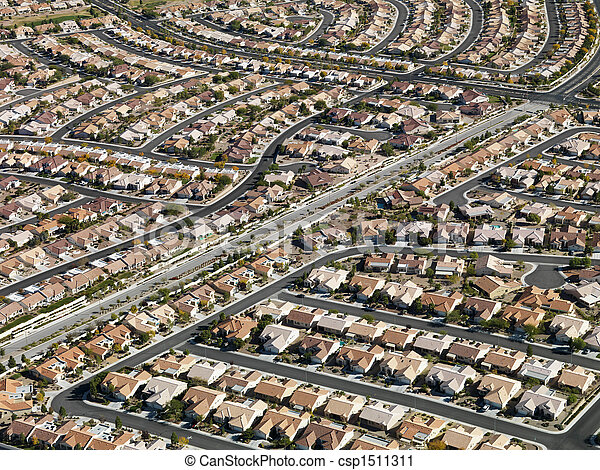 Urban housing sprawl. - csp1511311