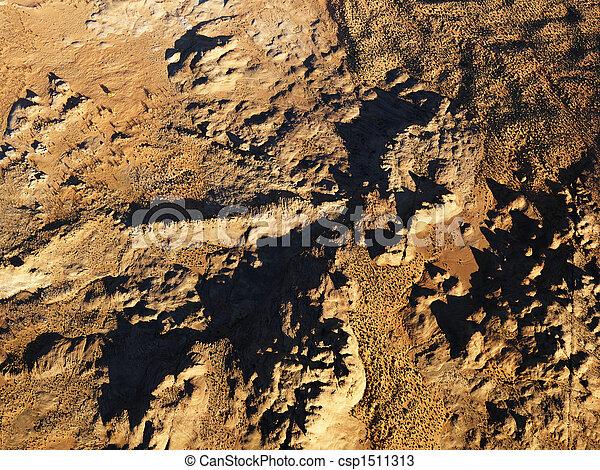 砂漠, 航空写真 - csp1511313