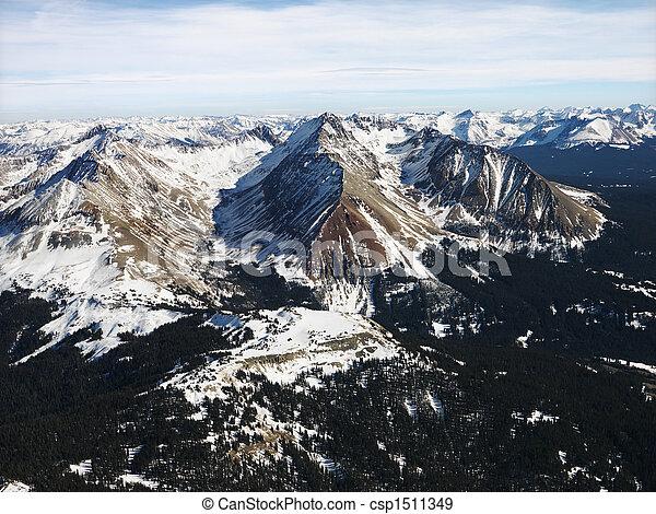 山, 岩が多い, 航空写真 - csp1511349
