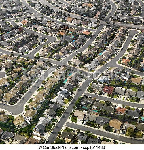 suburbia, 航空写真 - csp1511438