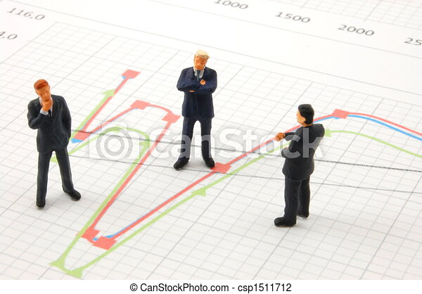 business people on chart background - csp1511712