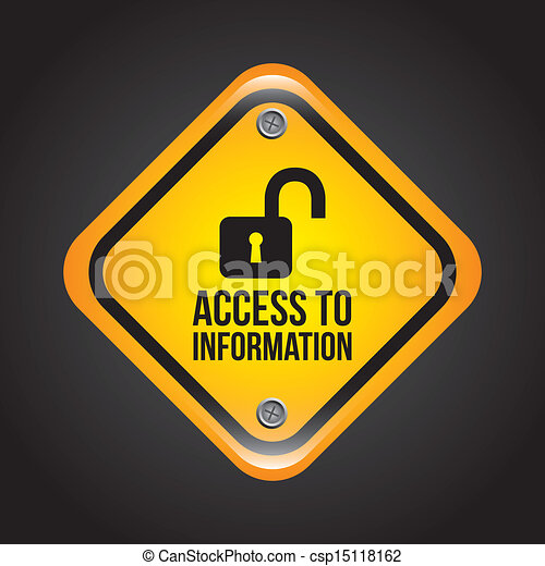 Clip Art Vector of access to information over black ...