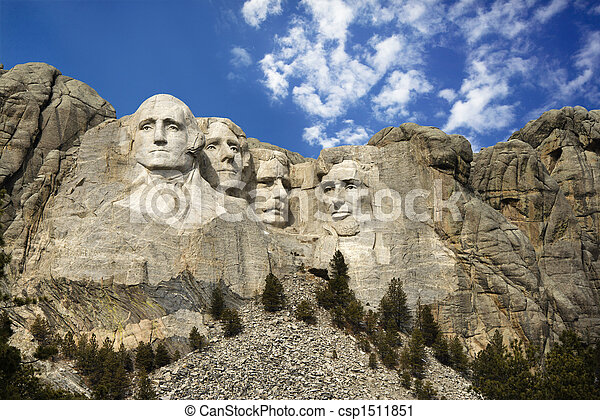 Stock Photography of Mount Rushmore. - Presidential sculpture at ...
