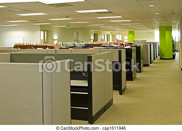 espaços, escritório - csp1511946