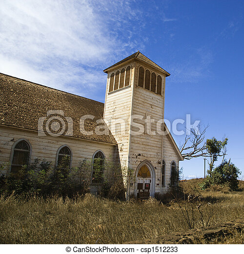 Old abandoned  church. - csp1512233
