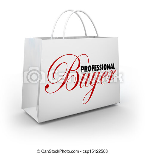 Stock illustration of professional buyer shopping bag for How to be a professional shopper
