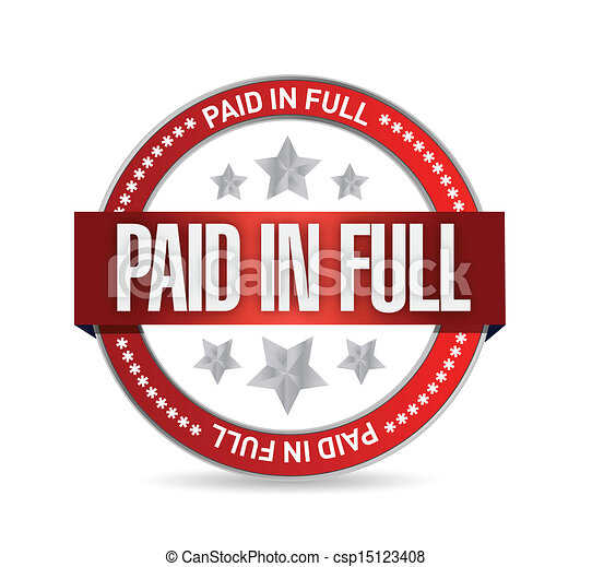 Paid in Full Stamp Clip Art