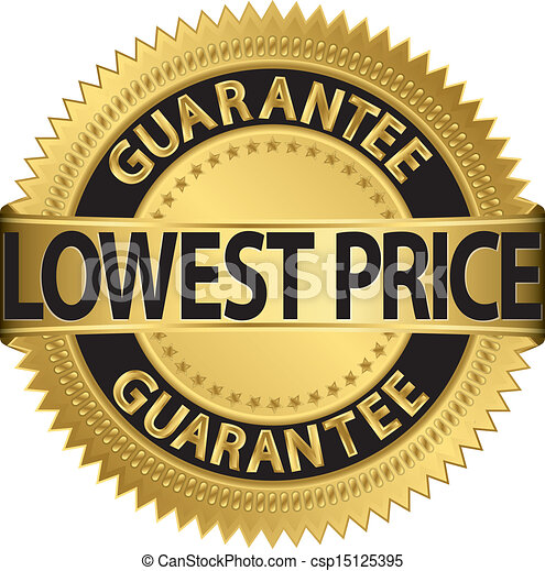 Lowest Price Icon Lowest Price Guarantee Golden