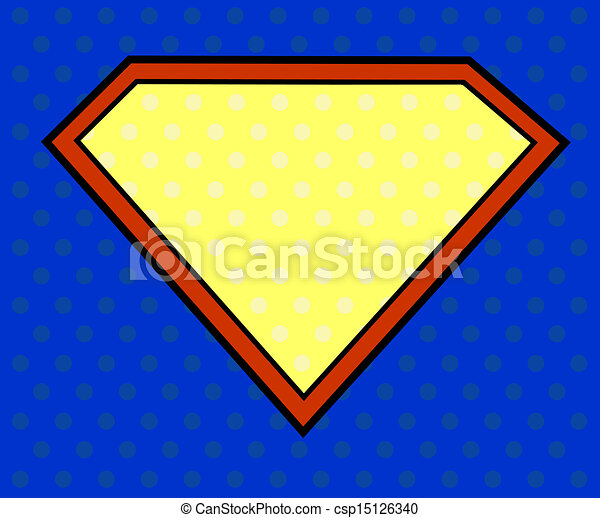 Super hero shield in pop art style - csp15126340