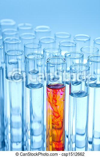 Laboratory glassware in the laboratory experiment in chemistry - csp1512662
