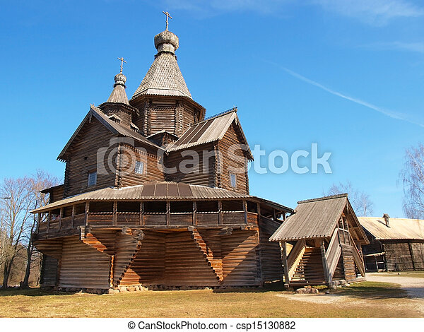 Ancient wooden church       - csp15130882