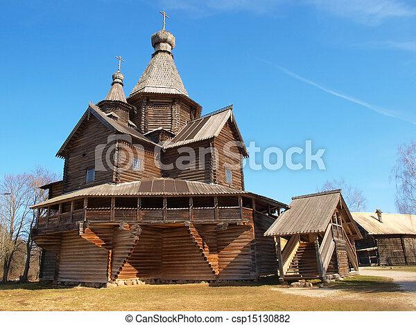 Ancient wooden church       - csp15130882