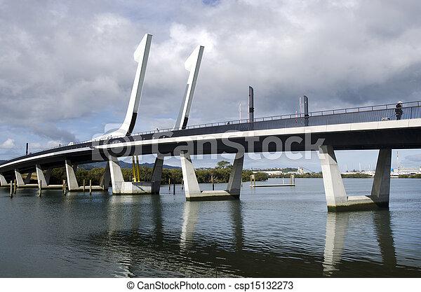 Zealand,  whangarei, Bridzs,  -, kikötő, új - csp15132273