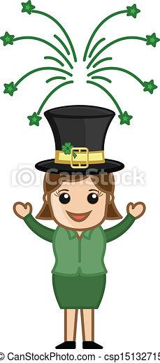St. Patrick's Day Leprechaun Girl - csp15132715
