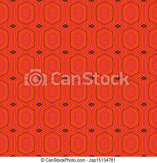 Retro pattern with oval shapes in 1950s style - csp15134781