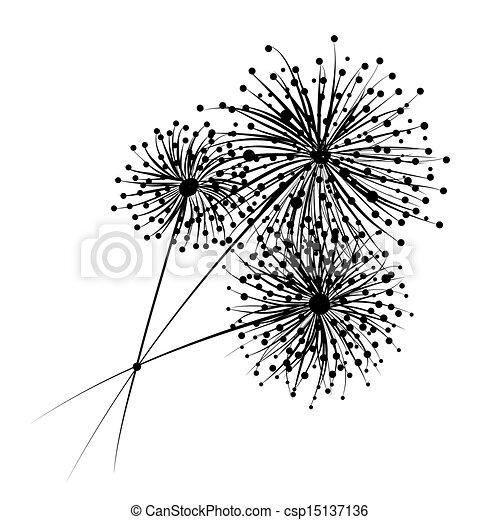 Vecteurs de fleurs conception ton pissenlit pissenlit - Dessin fleur pissenlit ...