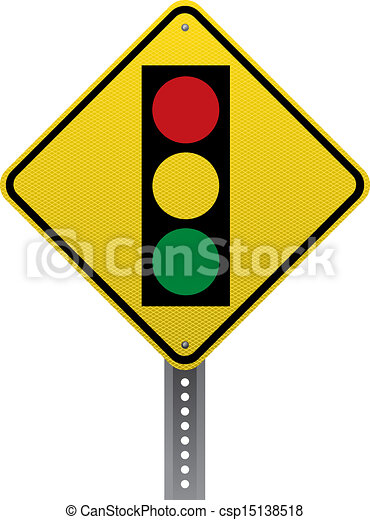 Vector Clip Art of Traffic signal sign - Traffic signal traffic ...