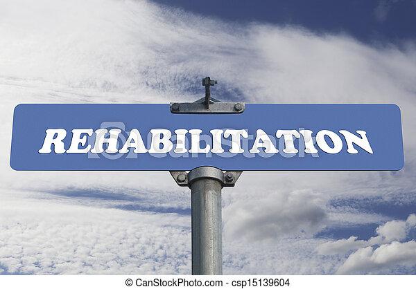 Rehabilitation road sign - csp15139604