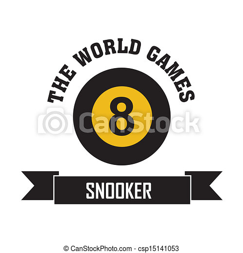 Clipart Vector of Snooker symbol on white background csp15141053 ...