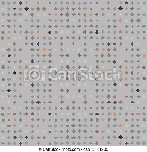 Retro pattern with microscopic diamond shapes - csp15141205